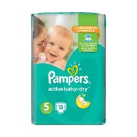 Pampers Active Baby-Dry Πάνες (11-18kg) Νο5 15τμχ